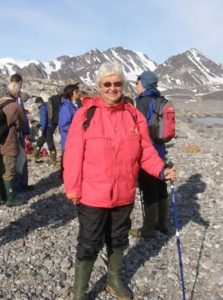 Tora and comapny trekking on Svalbard