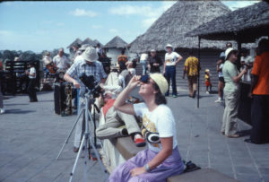 Tora and company watching solar eclipse 1980