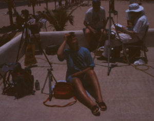 Tora watching totality approaching 1991