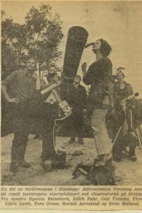 From a newspaper article - Tora and company watching solar eclipse