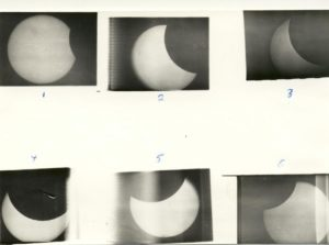 Sequense of solar eclipse 1972