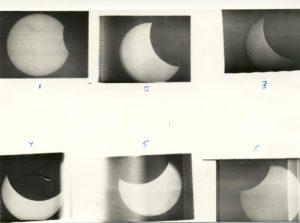 Sequense of solar eclipse 1972
